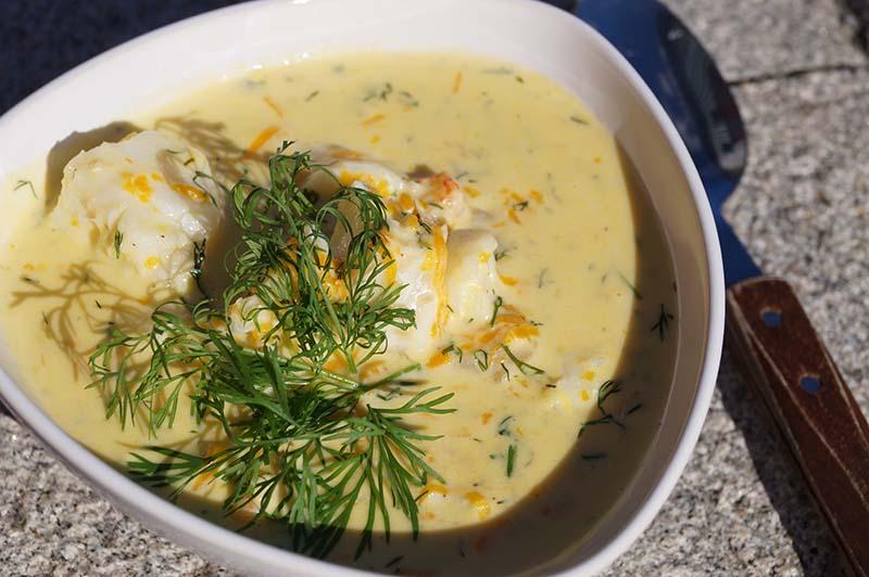 Fisksoppa med kräftost